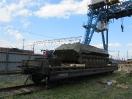 Открытая площадка с торцевой эстакадой для погрузки военной техники