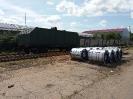 Выгрузка стального проката в рулонах весом 60 тонн. Станция и дорога операции КРЯЖ КБШ ЖД