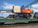 Прием универсальной платформы с грузом Atlas 350 МH весом 34200 кг. Негабаритность груза H0020
