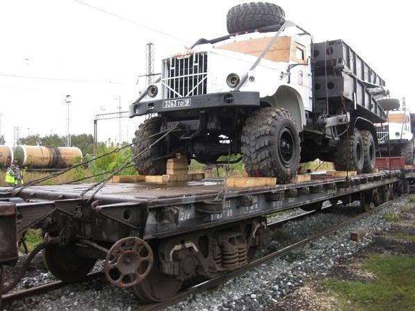 Отправка грузов на ЖД платформе