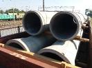 Прием полувагонов с железобетонной трубой на станции Кряж